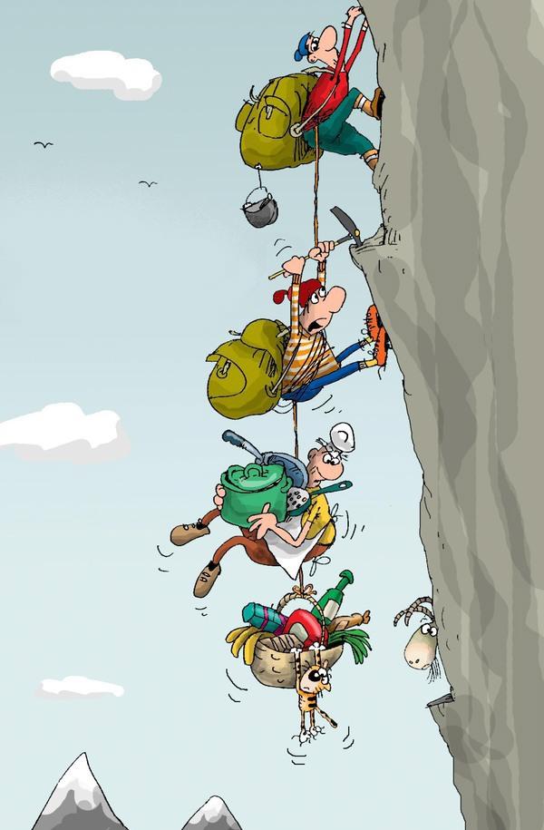 Прикольные картинки про альпинистов, открытка