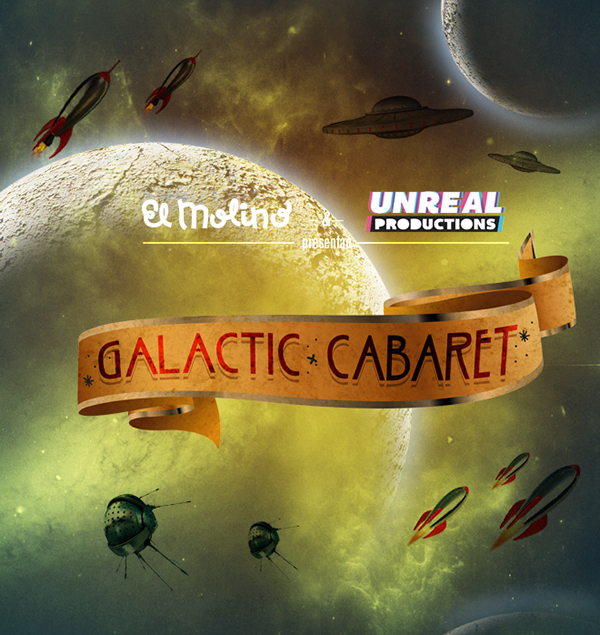 galactic cabaret molino barcelona pinup fiesta party night noche