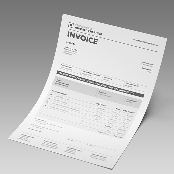 Sales Invoicing Excel Elite Invoice Design In All Program Formats On Behance Creative Invoices with Consulting Services Invoice Envato Asset Images Were Used So Please Replace With Your Pictures The  Invoice Comes With Two Paper Sizes Including Us Letter And International A Babies R Us Returns No Receipt Pdf