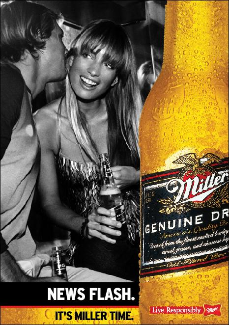 mgd Miller Genuine Draft beer pos art direction  miami paul alexander christopher grimston greg plowe the miller visual library  the miller music tour  mmt
