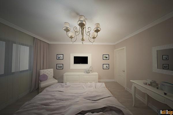 Design interior design classic bedroom luxury house on Pantone ...