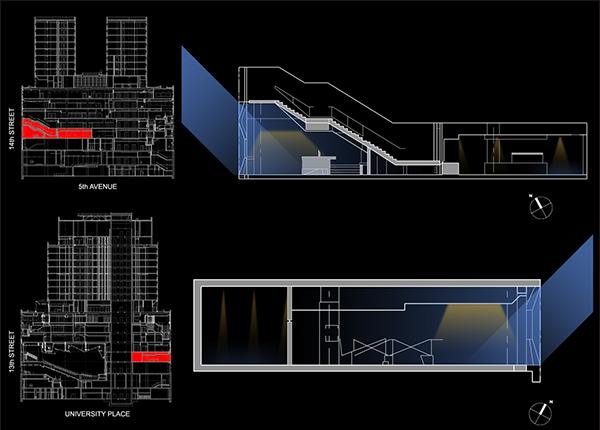 Parsons university center lighting design field survey on risd