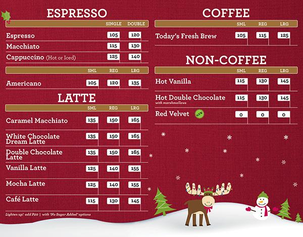 Coffee Bean and Tea Leaf 2012 Holiday Menuboards on Behance
