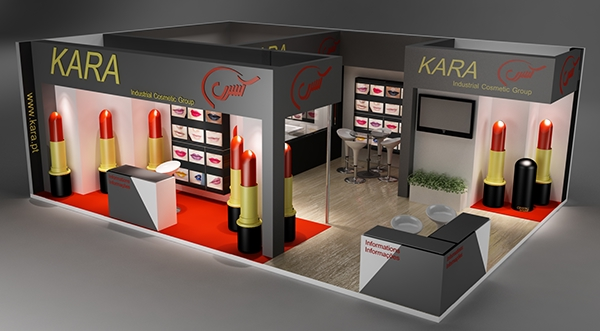 Exhibition Stand Vray : Exhibition stand for a cosmetic brand made in d max on