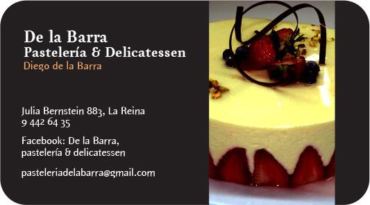 TARJETAS DE PRESENTACIÓN Pastelería De La Barra on Behance