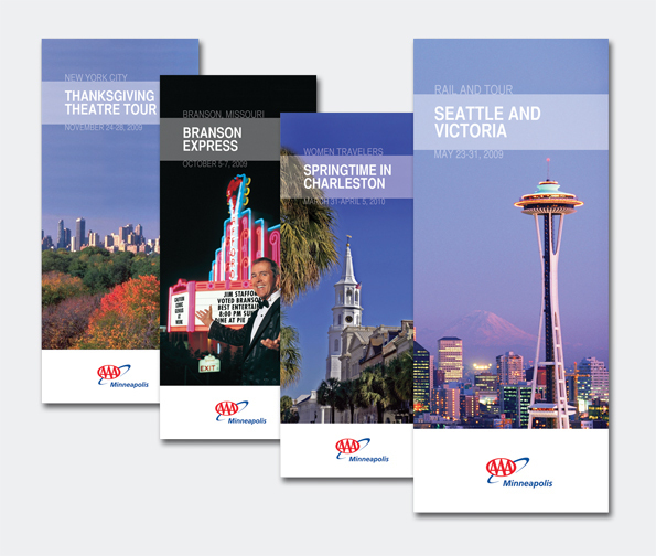 AAA Minneapolis Group Tour Travel Brochure Series on AIGA Member Gallery