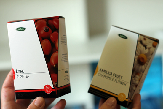 Tea Package design White