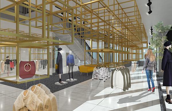 Delicieux Capstone Project: Fast Fashion Retail Design. Architecture, Interior Design