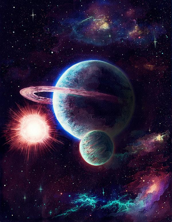 I wish I will draw for NASA someday. on Behance