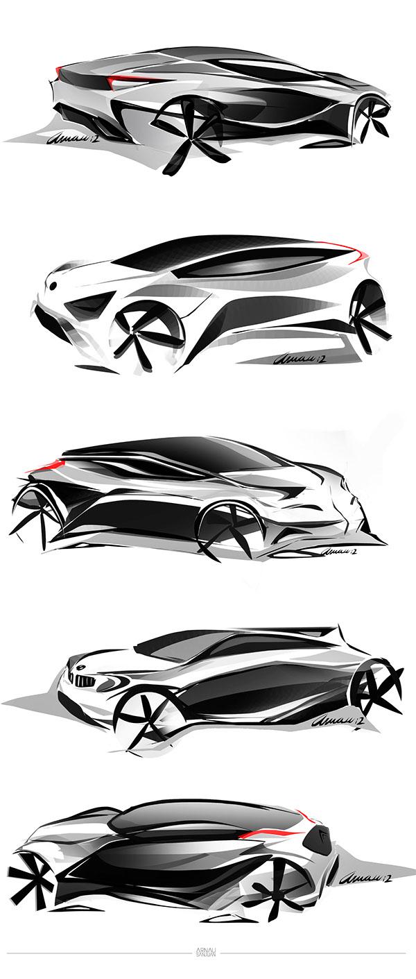 Car Design Sketches Set #1 on Wacom Gallery