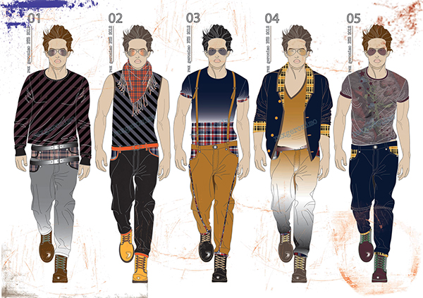Fashion Illustrations Adobe Illustrator Photoshop On Behance