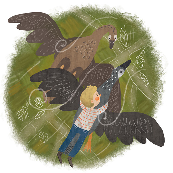 Divlje guske / Wild goose by Milica Radenkovic