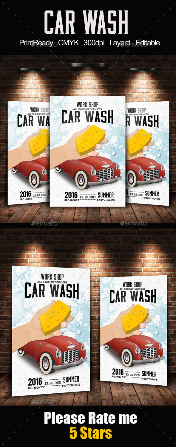Cool pressure washing flyer template images entry level resume car wash flyer templates free premium psd templates creative alramifo Images