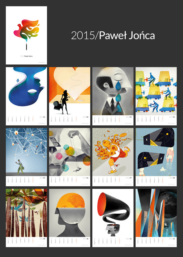 Calendar Number Design : Paweł jońca wall calendar on behance