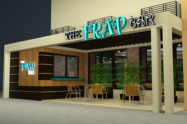 The frap bar cafe interior and exterior design proposal on for Cafe exterior design