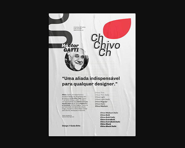 CHIVO   typeface poster catalogue