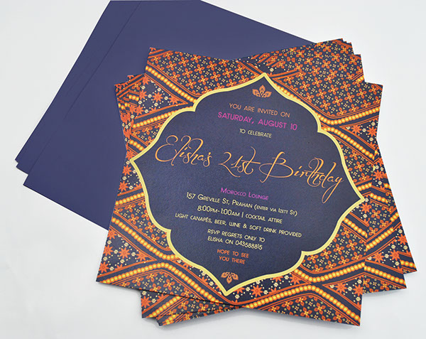 Moroccan Themed Birthday Invitations On Behance