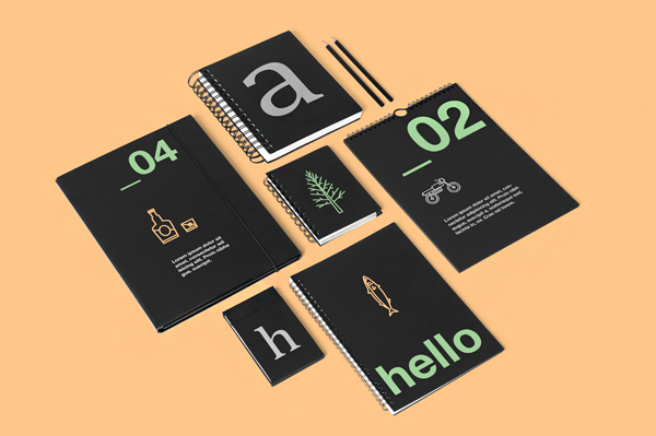 corporate stationery mock up on behance