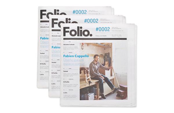 editorial identity naming folio monterrey mexico newspaper magazine face logo