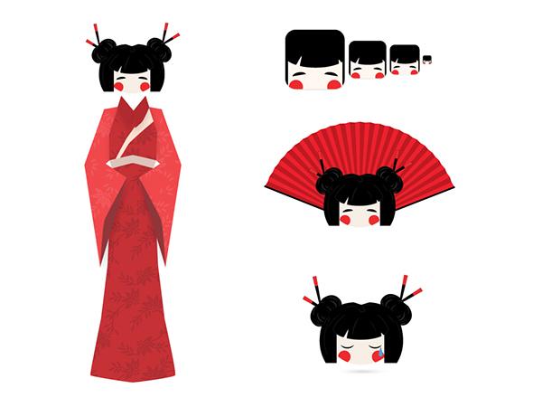 geisha Illustrator vectoriel