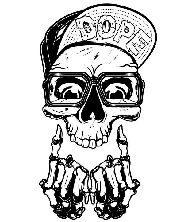 dope skull on behance