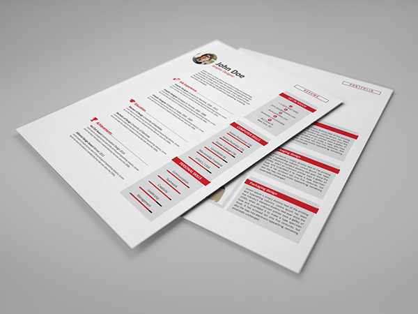 resume cv with word files on behance