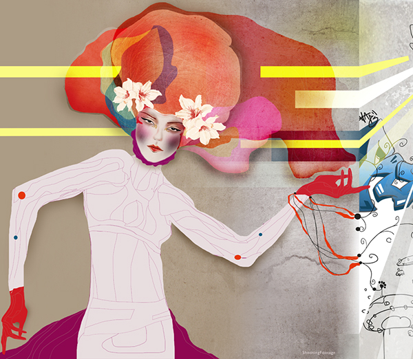 Red Bull,collective art,cadavre exquis,adobe,shaping tomorrow,graphics