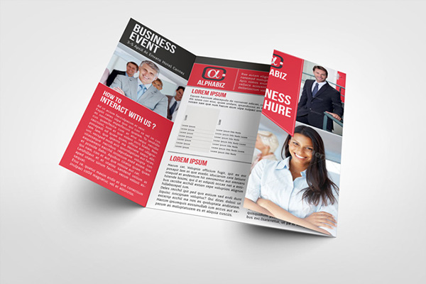gate fold brochure template indesign - business brochure gate fold template alphabiz on behance