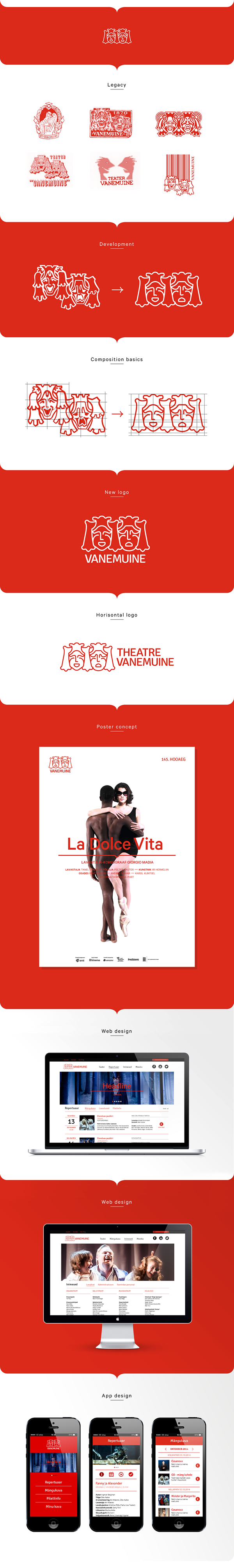 Theatre identity logo design Estonia