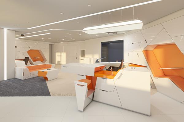 Bedroom Design Diagonal Bed