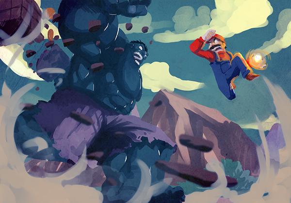 hulk vs mario by eslam aboshady