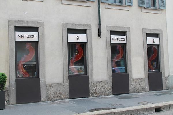 natuzzi flag shop via durini milano on behance