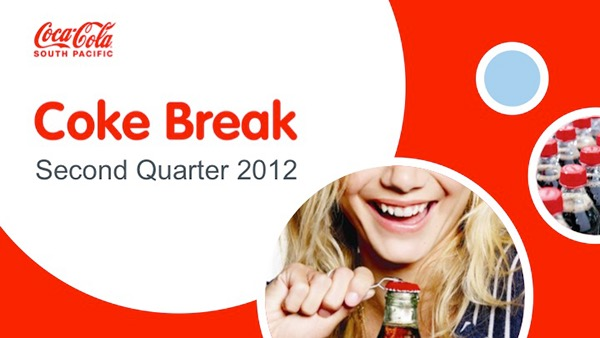 coca-cola event template on behance, Modern powerpoint