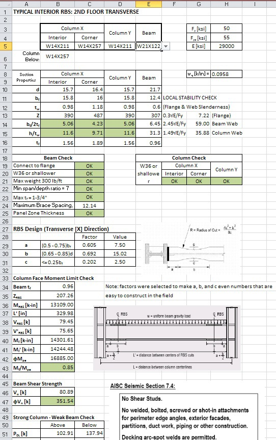 Excel Spreadsheet Design For Engineering Calculations On