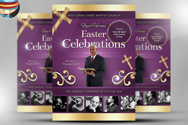free flyer templates for church events - easter celebrations flyer template on behance