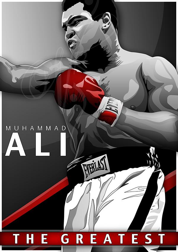 Kevin Hart Commercial >> Muhammad Ali Vector on Behance