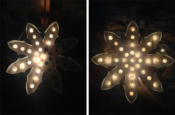 postcard christmas card snowflake Christmas postcards card light blue wood bulbs