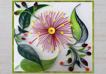 Step by step how to make quilling wall decoration on behance for Big quilling designs