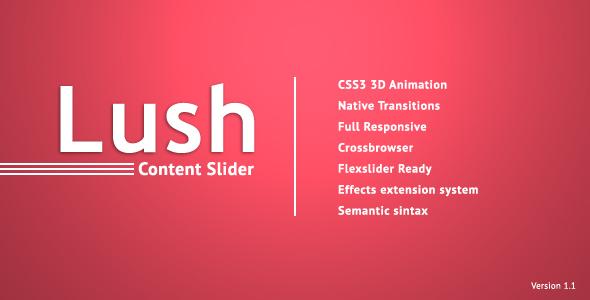 Lush - Content Slider on Behance