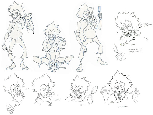 Afro Samurai Character Drawings This is my Process From