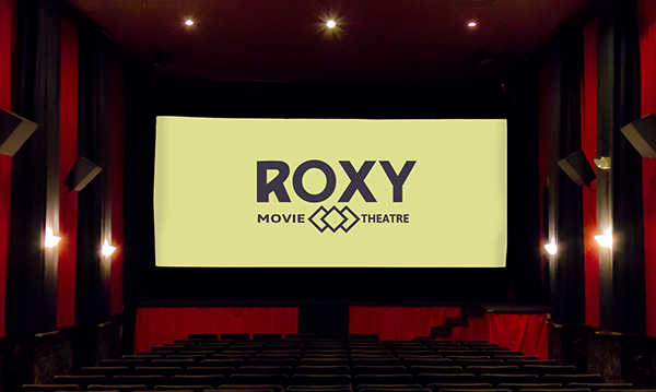 free Mockup movie theater  download design Display photo screen Projector