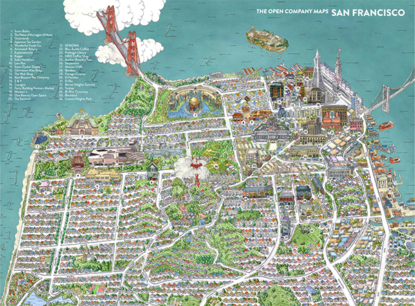 The TOC guide to San Francisco on Behance