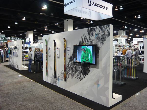 Exhibition Booth Sia : Sia trade show scott usa booth on behance