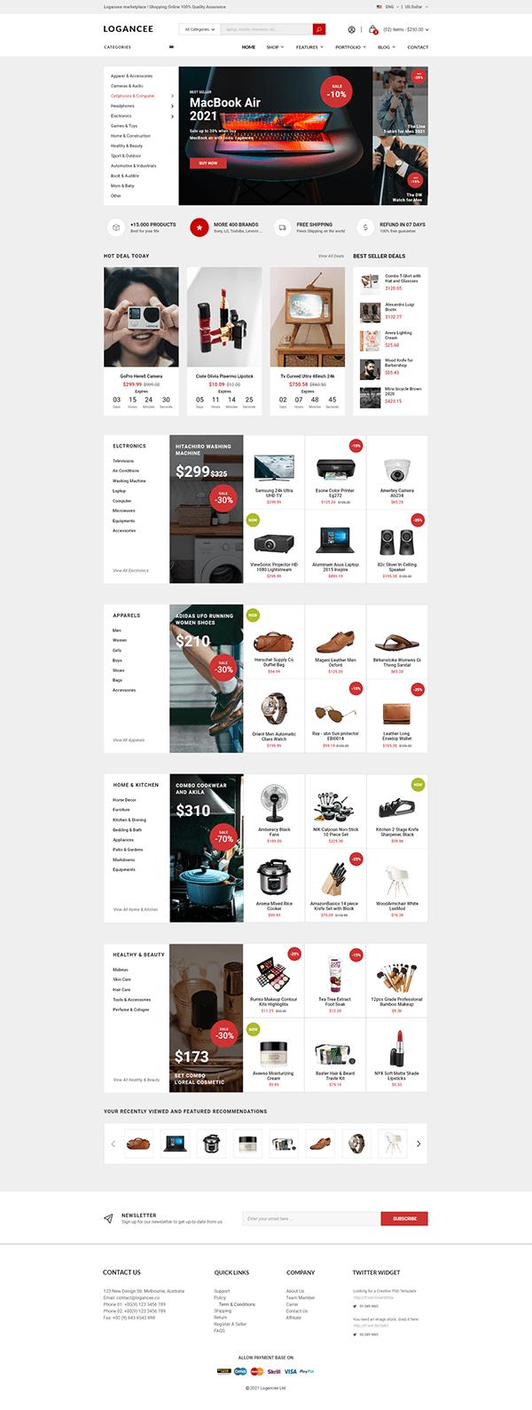 Ecommerce Web Ui Design