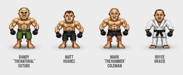 UFC Pixel art pixel MMA characters martial art fight nintend SEGA Retro game  retro game