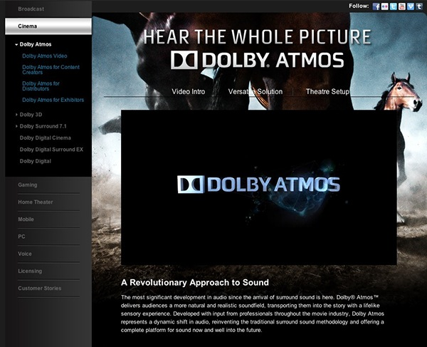 Dolby  Atmos platform launch on Behance