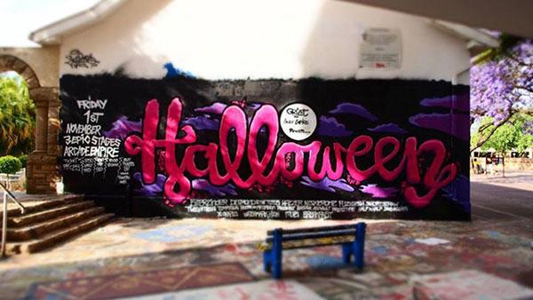 spider griet Halloween arcade empire monster pretoria city party Event Web