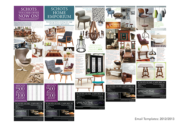 Email Templates For Schots Home Emporium On Behance