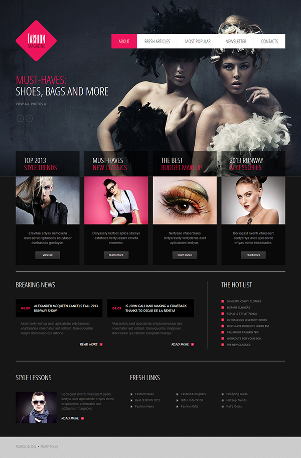 MakeUp Joomla Template On Behance