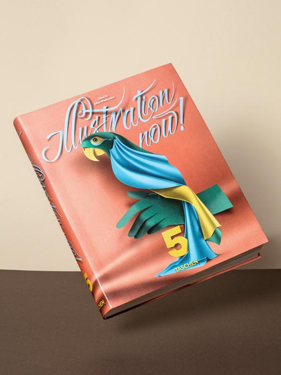 Tashen book cover paper textile parrot